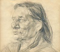 face of old woman