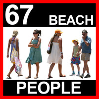 67 Beach People Textures