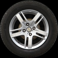 Car wheel with TVW rim