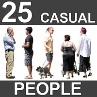 25 Casual People Textures - V1