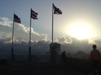Flags atop San Jaun Fort