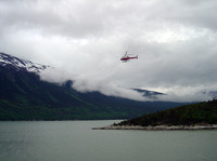 Helicopter in Skagway