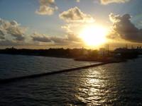 Cruiseship Sunset