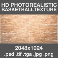 BasketBall field court HD texture maps