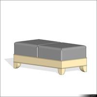 Stool Upholsterd 01360se