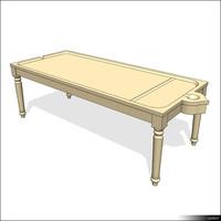 Massage Table Wood 01397se