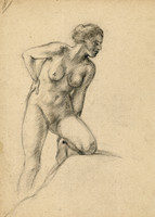 naked woman art model