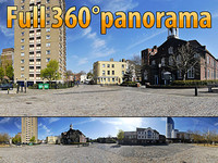 Center of Portsmouth - 360° panorama