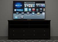 Flat Screen TV & Highboy TV Stand Combination