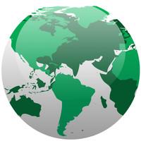 Rotating globe preloader
