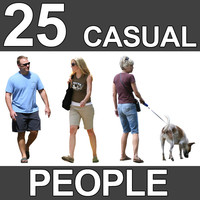 25 Casual People Textures - V3