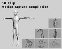 50 Clip motion capture compilation
