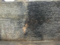 burned wall