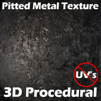 pitted metal shader ma