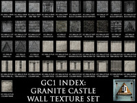 Granite Castle Walls Texture Set