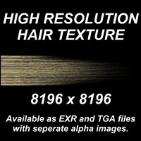 High Resolution Hair Texture - Light Blond