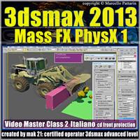 3dsmax 2013 Mass Fx PhysX v.2.0 Italiano_cd front