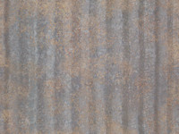 Seamless Corrugated Rusted Metal