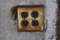 Wall plug socket texture