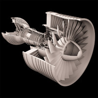 Turbofan Aircraft Engine Rolls-Royce Trent 900 - high resoluition image
