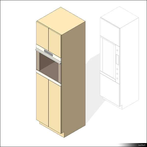 Kitchen Furniture Revit Families: Building Rfa Oven Cabinet Kitchen