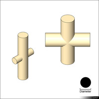 Pipe Cross Tee 01386se