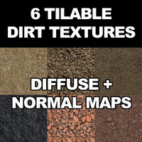6 Tilable Dirt Textures