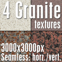 4 High Res Seamless Granite Textures Vol.02 part1