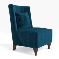 3d model of baker lounge chair