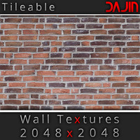Brick Wall Tileable 2048x2048