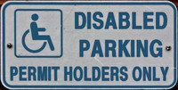 Disabled Parking Sign 01
