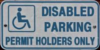 Disabled Parking Sign 01