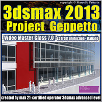 3dsmax 2013 Project Geppetto v.7 Italiano cd front