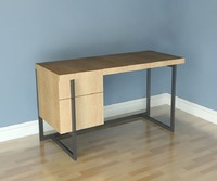 Desk- West Elm- Flat Bar