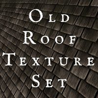 Old Wood  Roof Shingles Texture Set