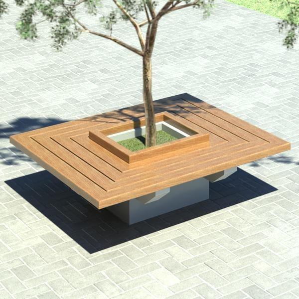 Building rfa bench furniture revit for Outdoor furniture revit