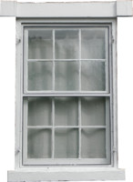 White Antique Window
