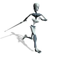 Swordman run forward freeze