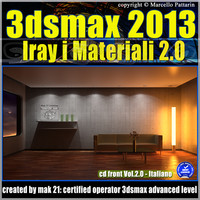 3ds max 2013 Iray Materiali Italiano cd front Vol 2