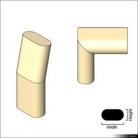 Duct Flat Oval Angle 01377se
