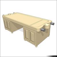 Massage Table Wood 01396se
