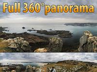 Coast of Jersey island - 360° panorama