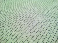 detail photography of grey pavement bricks