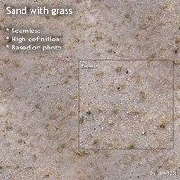 Sand with grass