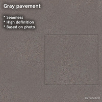 Gray pavement