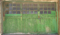 Green Factory Garage Loading Dock Door