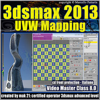 3dsmax 2013 UVW Mapping v.8 Italiano cd front