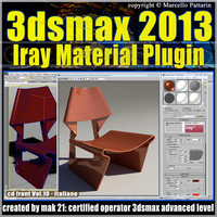 3ds max 2013 Iray Material Plugin v.10 Italiano cd front