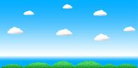 Sky Clouds Ocean horizon