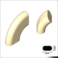 Duct Flat Oval Bend 01378se